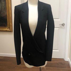 Helmut Lang double breasted black blazer